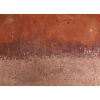 "Enni Mixed Media ""Eclipse"", Contemporary Abstracted Red Landscape For Sale"