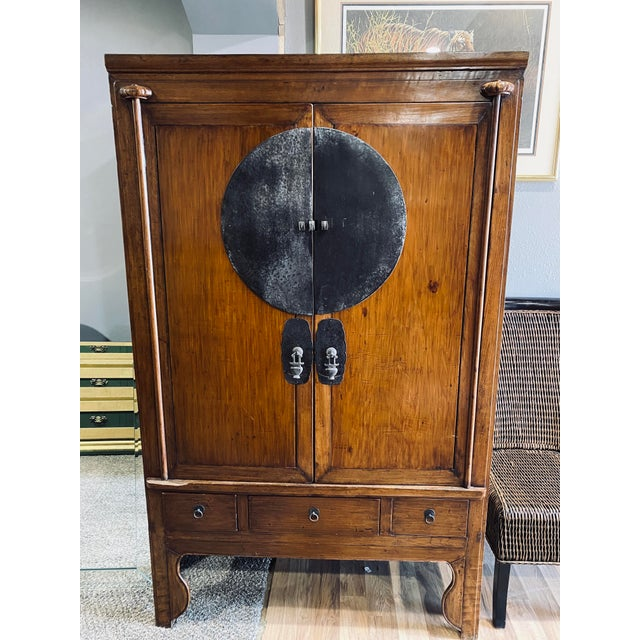 Mid 20th Century Vintage Chinese Armoire For Sale - Image 13 of 13