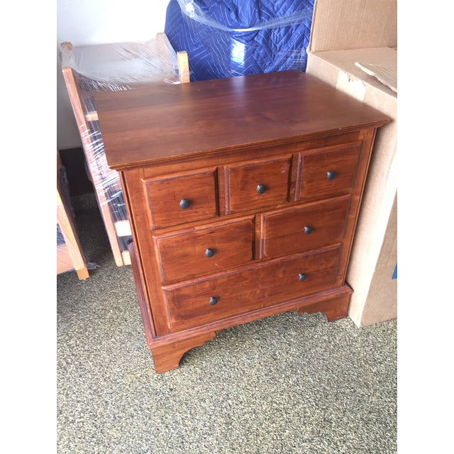 Ethan Allen Side Table with Drawers - Image 2 of 3