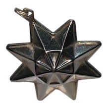 1981 Reed and Barton Silver Plated Star Ornament For Sale