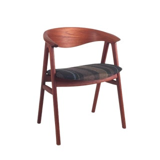 Vintage Erik Kirkegaard Danish Teak Compass Chair