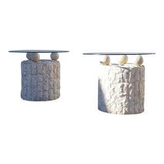 Post Modern Mactan Side Tables - Pair For Sale