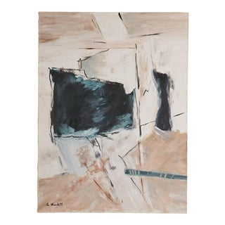 1970s Abstract Expressionist Painting, Signed L. Nicoletti For Sale