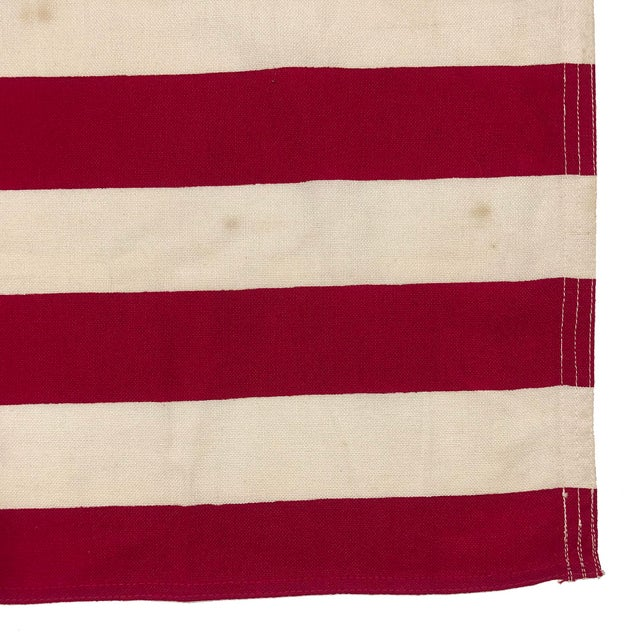 Small Vintage Cotton American Flag For Sale - Image 4 of 6