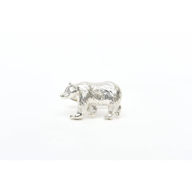 2000 - 2009 Sterling Silver Bull & Bear Custom Cufflinks - a Pair For Sale - Image 5 of 9