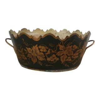 Vintage French Tole Monteith Cachepot For Sale