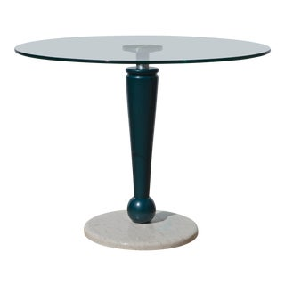 Italian Modern Glass Top Cafe Table For Sale
