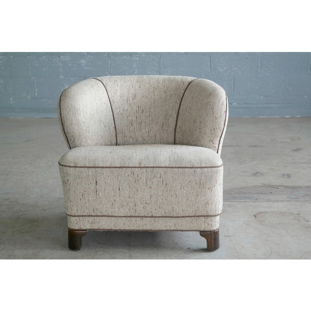 Viggo Boesen Attributed Danish Modern Lounge Chair 1940s - Image 3 of 11