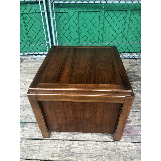 Mid-Century Modern 1970s Mid Century Modern Walnut Nightstand by Lane For Sale - Image 3 of 10