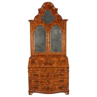 18th Century Italian Baroque Walnut and Fruitwood Secretary For Sale