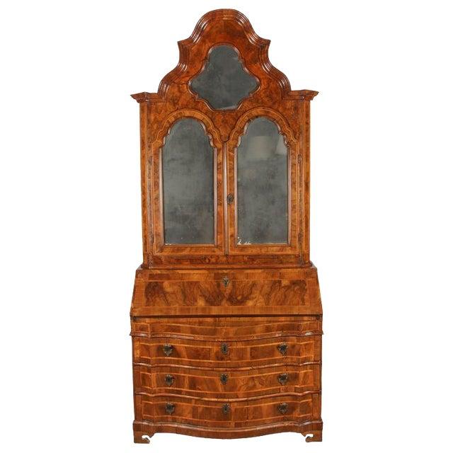 18th Century Italian Baroque Walnut and Fruitwood Secretary For Sale