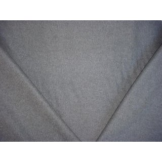 Traditional Ralph Lauren Burke Wool Plain Charcoal Upholstery Fabric - 4-1/2y For Sale