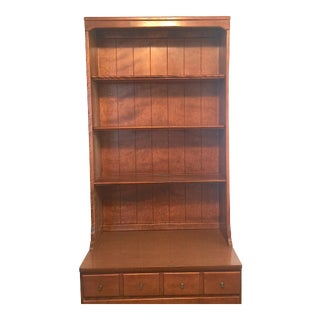 1950s Mid Century Modern Ethan Allen Baumritter Maple Wood Dresser Cabinet Top Unit For Sale