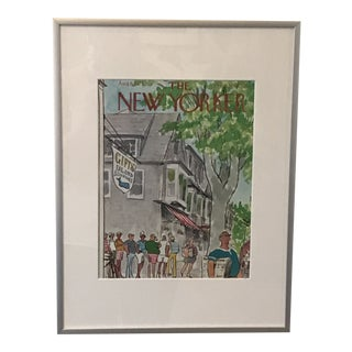 """1973 """"Sunday Nantucket"""" New Yorker Magazine Cover Print by Saxon For Sale"""