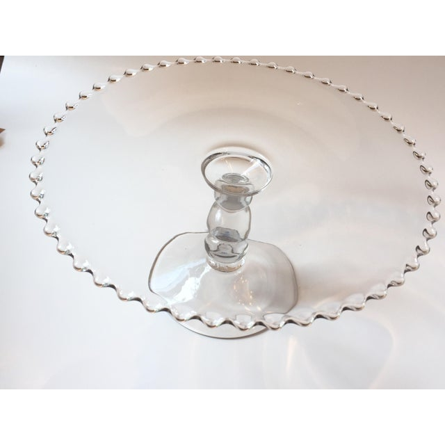 Imperial Candlewick Clear Glass Cake Stand | Chairish