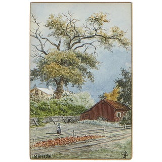 Country Painting by Johan Fredrik Isberg Mariedal For Sale