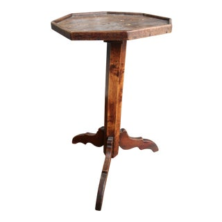 18th Century French Elm Candlestand Side Table For Sale