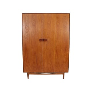Three Door Danish Teak Armoire by Kofod Larsen for G Plan