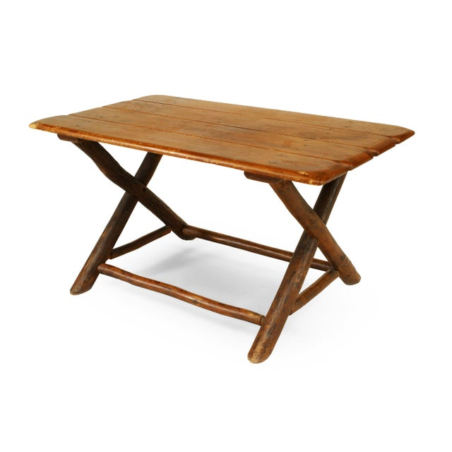 Old Hickory Furniture Company Rustic Old Hickory Coffee Table For Sale - Image 4 of 4