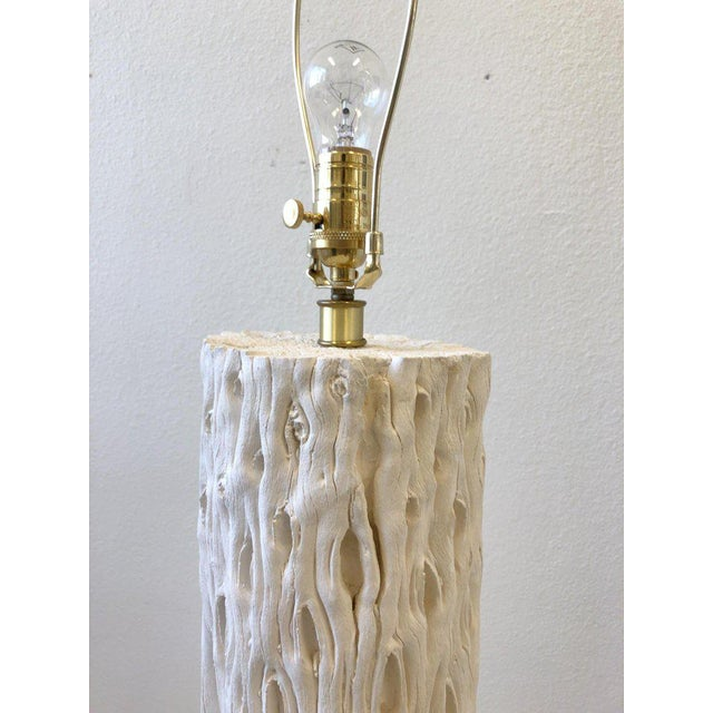 White 1980s White Plaster and Brass Saguaro Floor Lamp For Sale - Image 8 of 11
