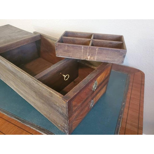 1920s French Louis XVI Bureau Plat Writing Desk For Sale In Austin - Image 6 of 13