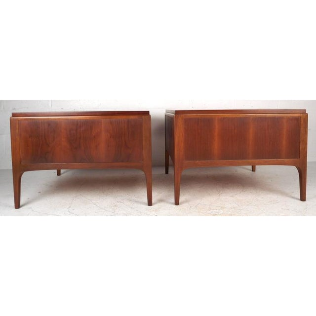 Lane Furniture Lane Furniture Mid-Century Low End Tables - a Pair For Sale - Image 4 of 8