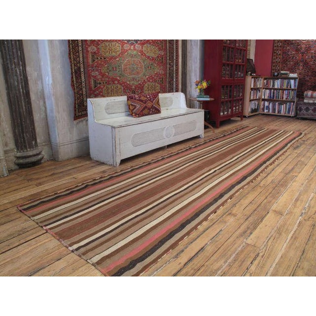 A very high quality tribal flat-weave from central Turkey with excellent wool and tight weave.