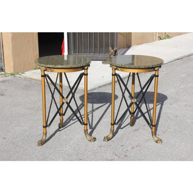 1920s French Neoclassical Bronze Side Tables - a Pair For Sale - Image 13 of 13