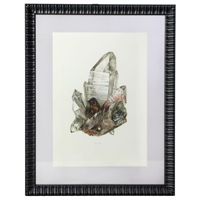 Antique French Gemstone Mineralogy Study Lithograph - Crystal Quartz For Sale - Image 4 of 4