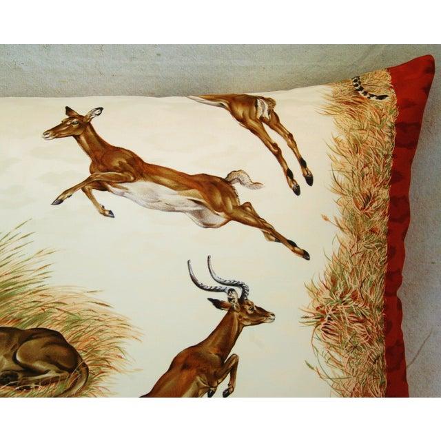 Custom Hermes Robert Dallet Safari Kenya Pillow - Image 8 of 11