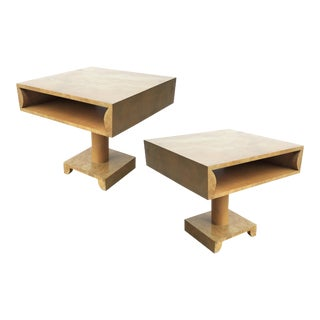 sculptural Nightstands or End Tables in Style of Tommi Parzinger - A Pair For Sale