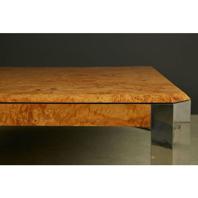Pace Collection Leon Rosen for the Pace Collection Burled Wood Large Coffee Table For Sale - Image 4 of 8