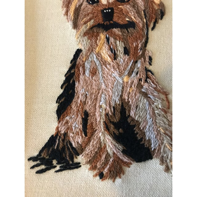 Handmade Framed Yorkie Dog - Image 4 of 10