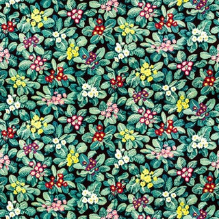 Vintage Bassett McNab Primroses Floral Fabric, 1 Yard For Sale