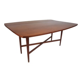 Drexel Declaration Walnut Drop-Leaf Dining Table For Sale
