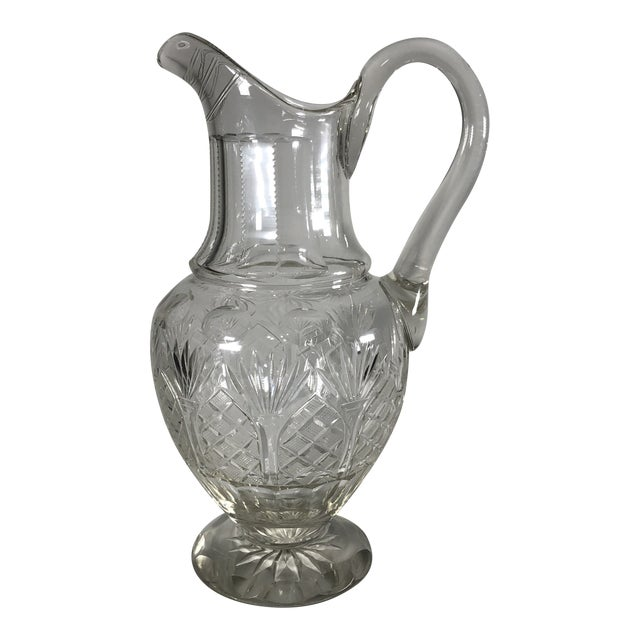 Early 19th Century Georgian Anglo-Irish Cut Crystal Champagne Pitcher For Sale