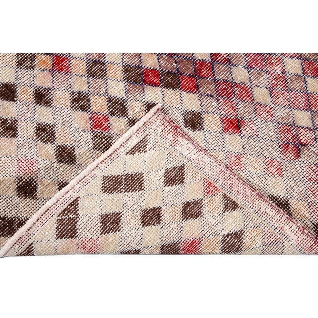 Mid 20th Century Vintage Art Deco Wool Runner Rug For Sale - Image 4 of 13