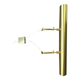 Vintage House of Troy Contemporary Satin Brass 3-Bulb Picture/Portrait Light For Sale