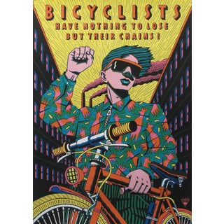 1991 Original Poster, Bicyclists Have Nothing to Lose For Sale
