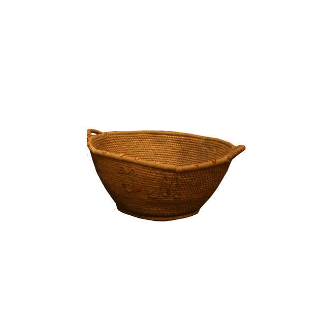 Early 20th Century Early 20th Century Antique Spanish Handwoven Basket For Sale - Image 5 of 5