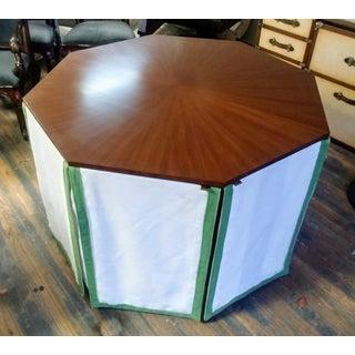 Henredon Furniture Havenhurst Mark D. Sikes Walnut Octagonal Skirted Table Preview