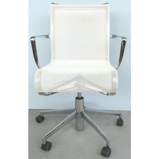 Rolling Frame Swivel Chair with Armrests by Alberto Meda for Alias, Italy For Sale - Image 10 of 10