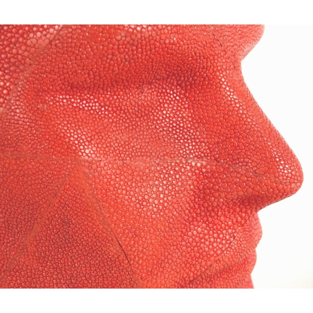 Late 20th Century Serge De Troyer Shagreen Head Sculpture For Sale - Image 5 of 10