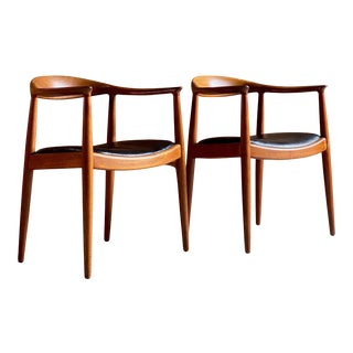 Hans J. Wegner the Chair Model JH503 by Johannes Hansen Dambusters Interest - A Pair For Sale