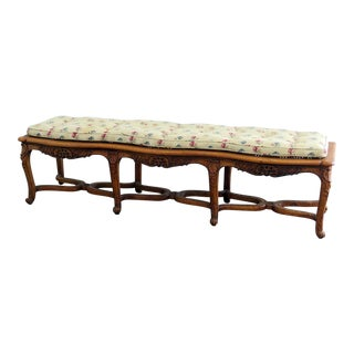 Mid Century Country French Style Window Bench For Sale