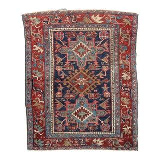 """Antique Authentic Persian Heriz Area Rug - 3'5"""" X 4'3"""""""