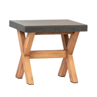 Outdoor Modern Farmhouse Side Table For Sale