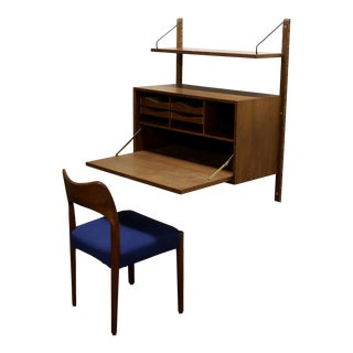 Poul Cadovius Cado Royal System Modular Wall Unit Writing Desk and Chair For Sale