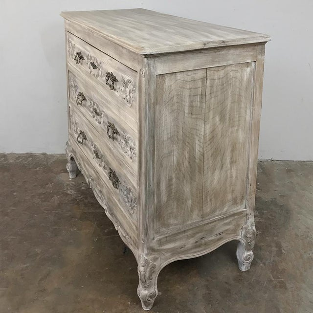 Country 19th Century Country French Whitewashed Commode For Sale - Image 3 of 13