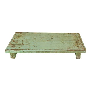 Tota Green Wooden Bajot Table For Sale
